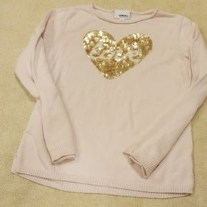 Sonoma girls light pink sweater